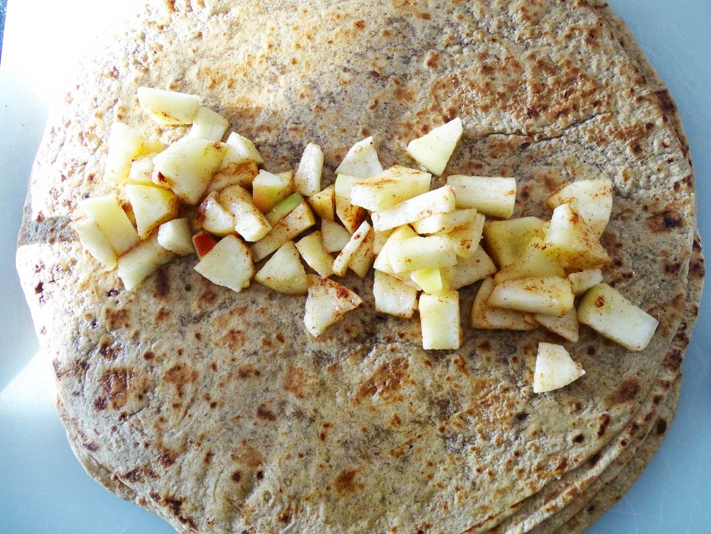 Wraps met appel