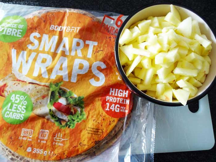 Ingrediënten gezonde appelrollen maken