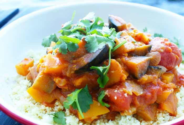 Suikervrij eten, pompoen curry met bloemkoolnasi