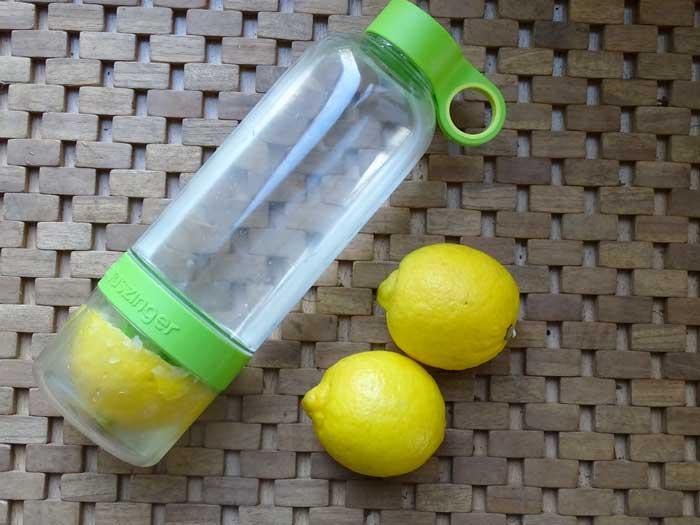 Waterfles voor citroen, komkommer, kiwi, sinaasappel, munt en nog veel meer.
