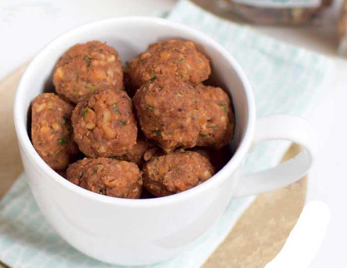 Linzenballetjes, vegetarische snack