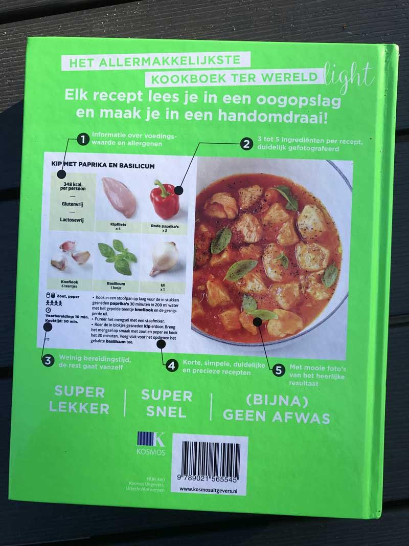 Het allermakkelijkste kookboek ter wereld. Slechts 5 ingrediënten per recept!
