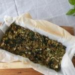 Groen gehaktbrood met spinazie en broccoli