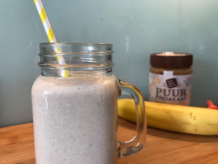 Shake met banaan en pindakaas