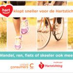 Kom in beweging voor de hartstichting, United Consumers sponsort jou