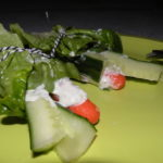 Slarolletjes met komkommer en wortel
