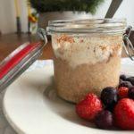 Overnight oats met koffiesmaak