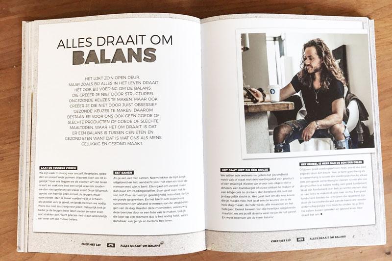 Boekfragement en boekverslag Chef met Lef, kookboek