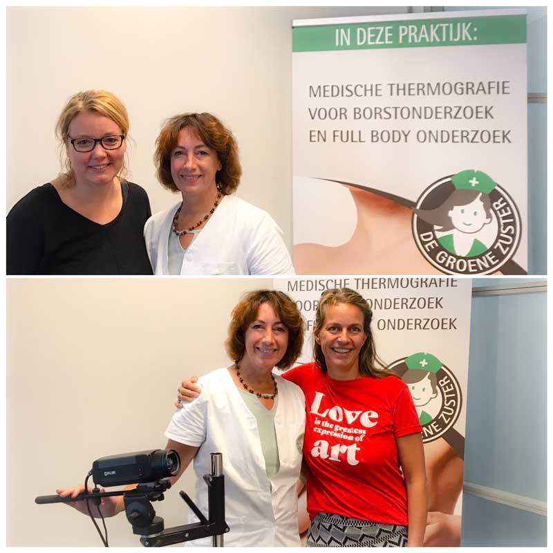 Op bezoek bij Francine van Broekhoven van De Groene Zuster voor een preventief borstonderzoek.