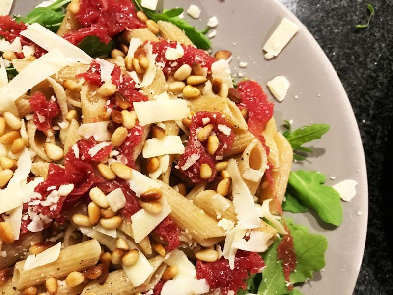 Recept carpaccio-pastasalade