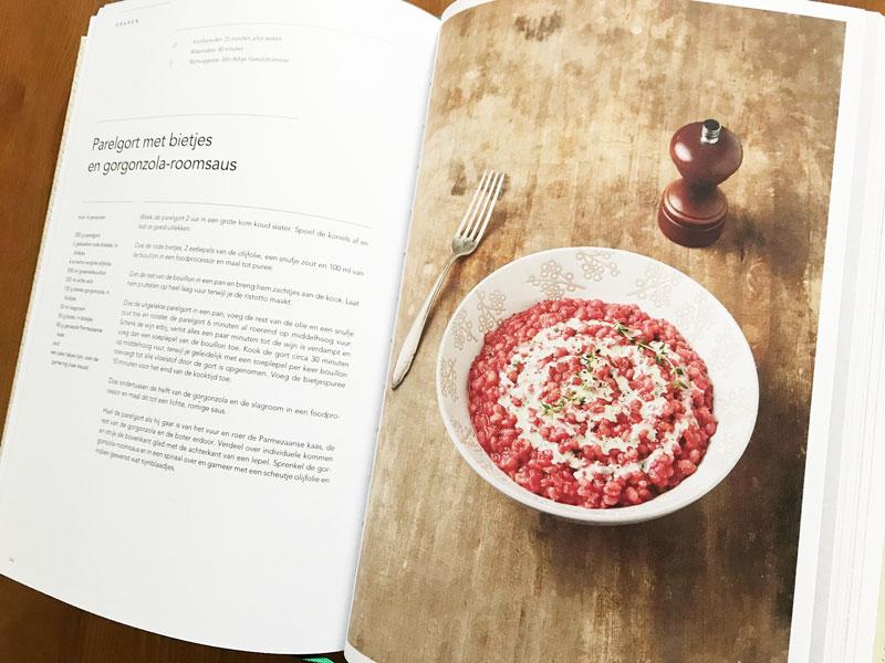 Kookboek met moderne Italiaanse recepten