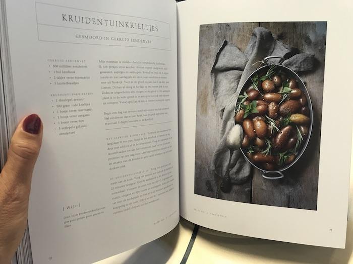 Sfeervol kookboek, vol heerlijke recepten en fantastische foto's.
