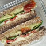 Recept voor vegan broodje, sandwich gegrilde paprika
