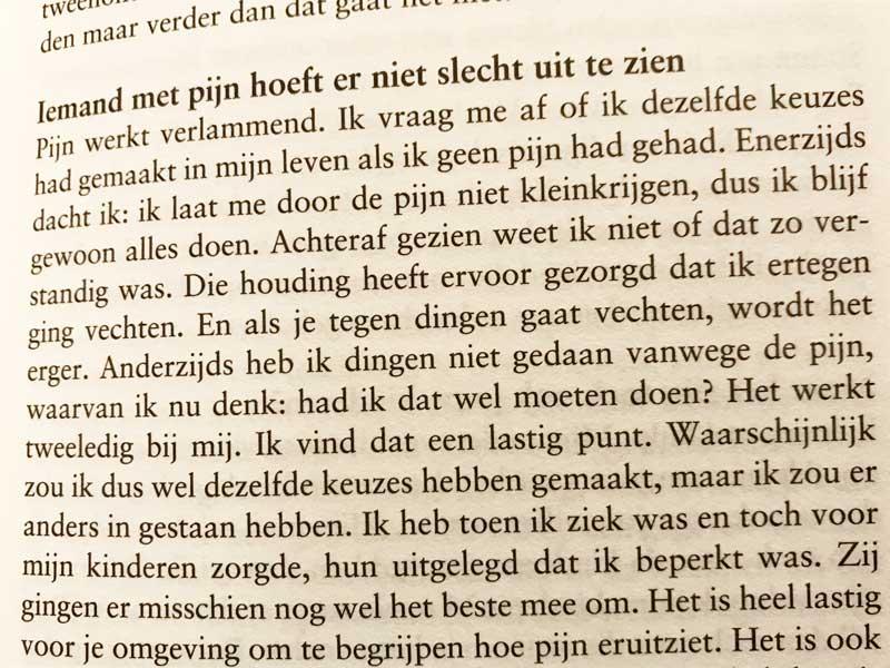 Boekfragment Pijn is Persoonlijk, van Marleen Schefferlie