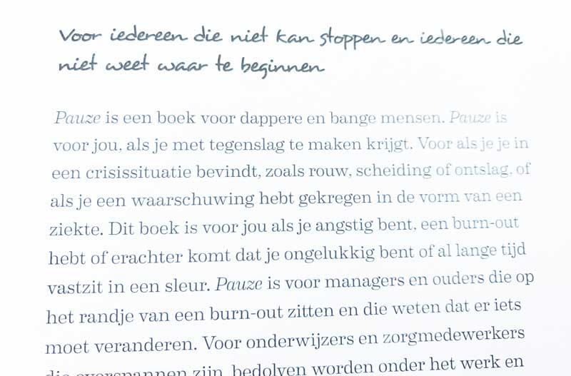 Fragment uit het boek Pauze van Danielle Marchant