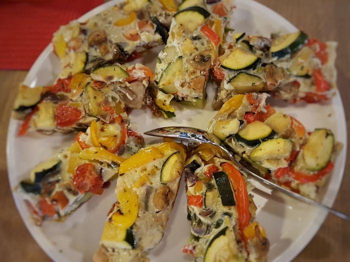 groente frittata - voor een makkelijke koolhydraatarme lunch - goed