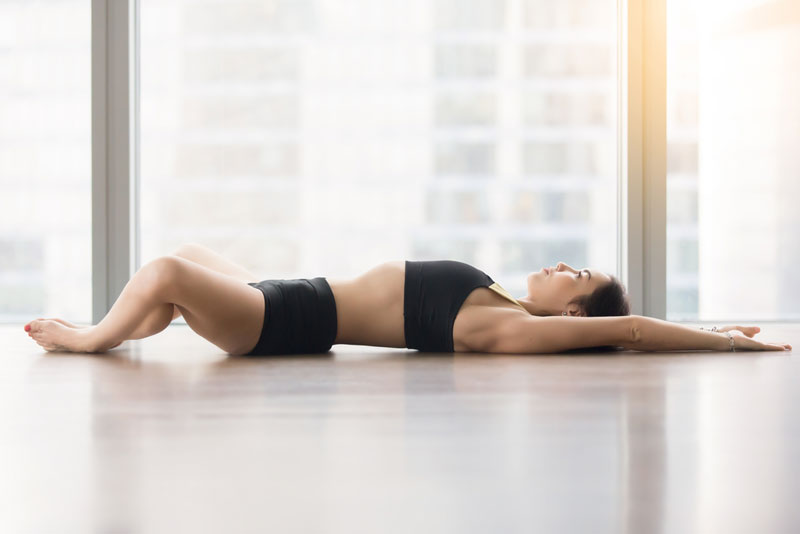 Yoga exercise against stress and making you sleep better