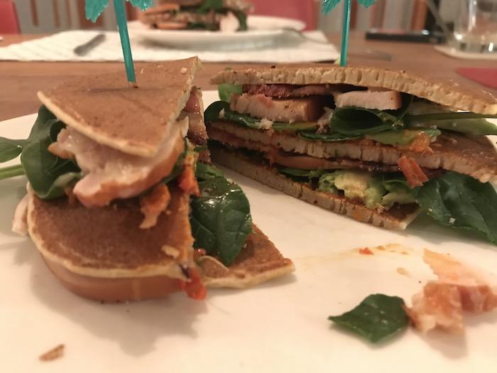 low carb club sandwich
