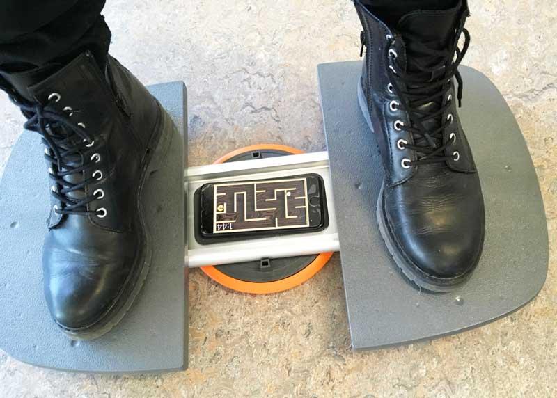 Balanstraining met behulp van smartphone en de M-Pad
