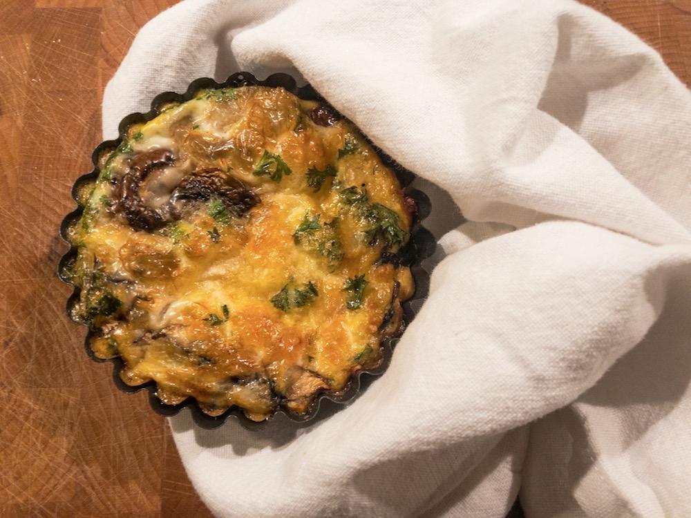 ei muffin - champignons - lunchbox