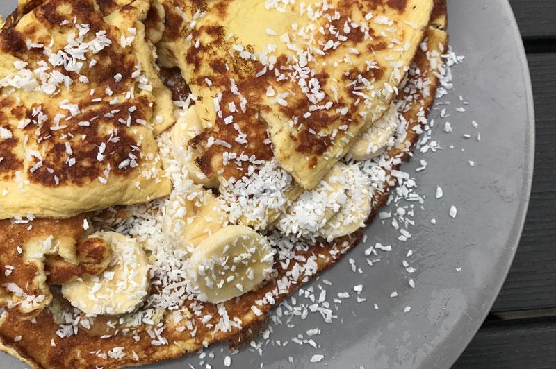 Zoete omelet, recept Jasper Alblas