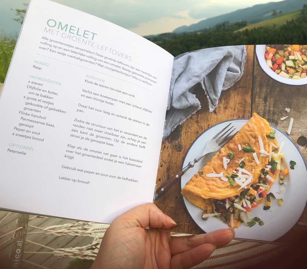 Groente-omelet, recepten voor de camping