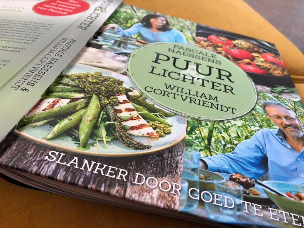 Kookboek met pure recepten van William Cortvriendt en Pascale Naessens