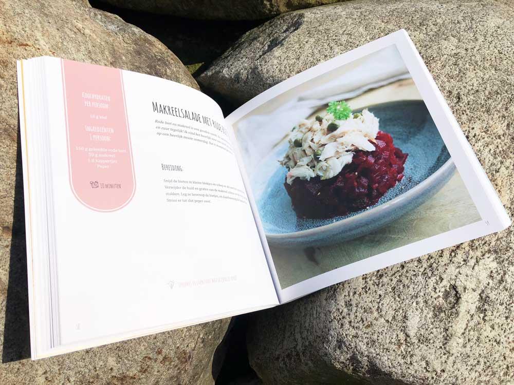 Kookboek met heerlijke koolhydraatarme recepten voor de hele dag.