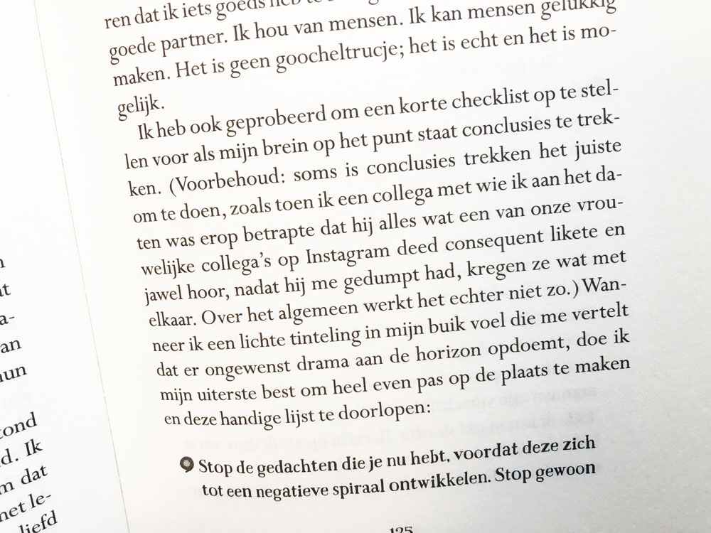 Fragment boek Maggy van Eijk, als je je snel somber voelt