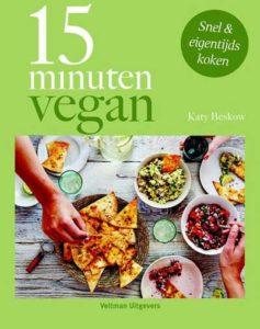 Kookboek met snelle vegan recepten.