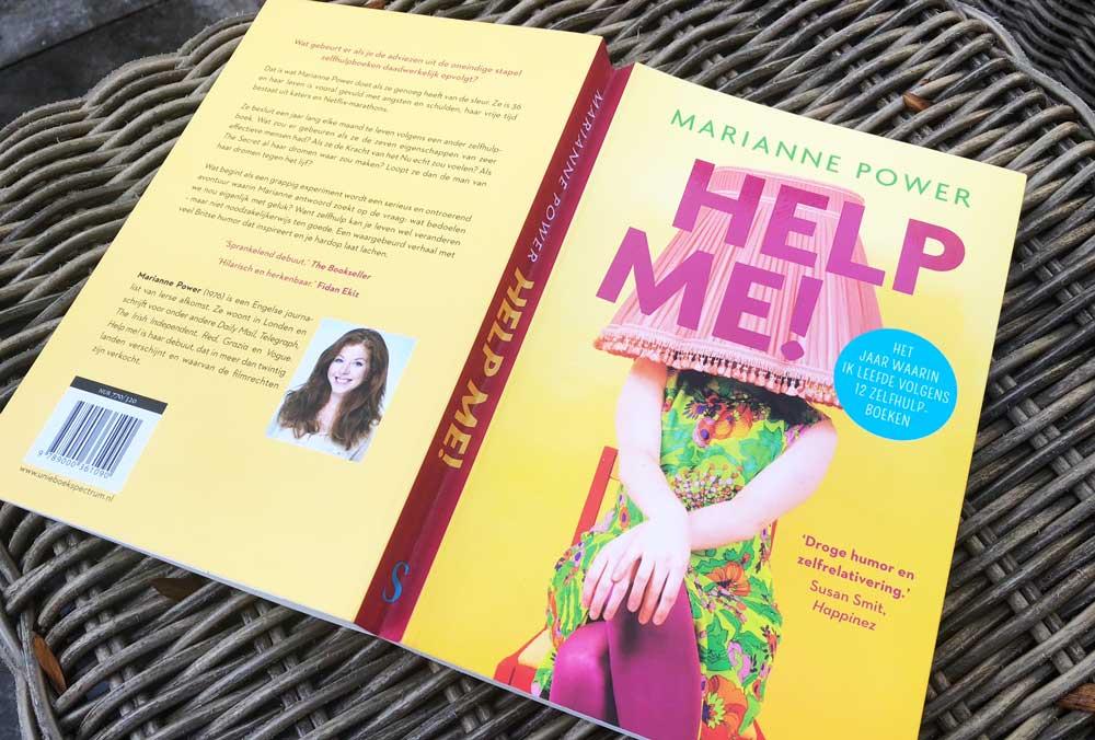 Help me! Boek over het toepassen van zelfhulpboeken.