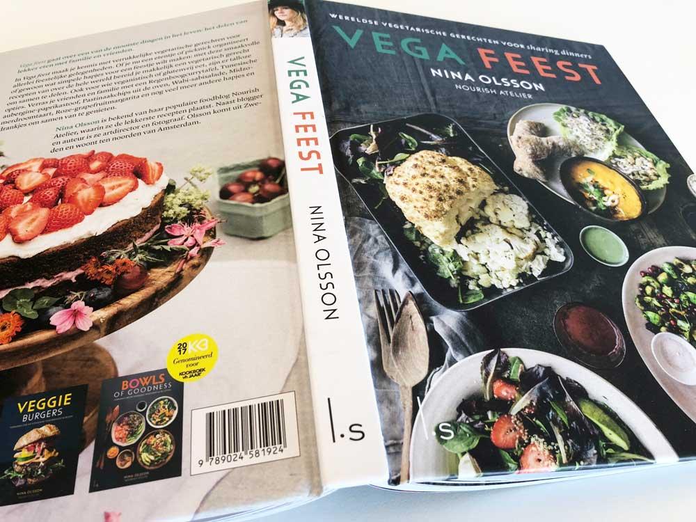Feestelijke, vegetarische recepten, kookboek Vega Feest