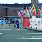 De bezemwagen tijdens de halve marathon: je moet alles een keer meemaken