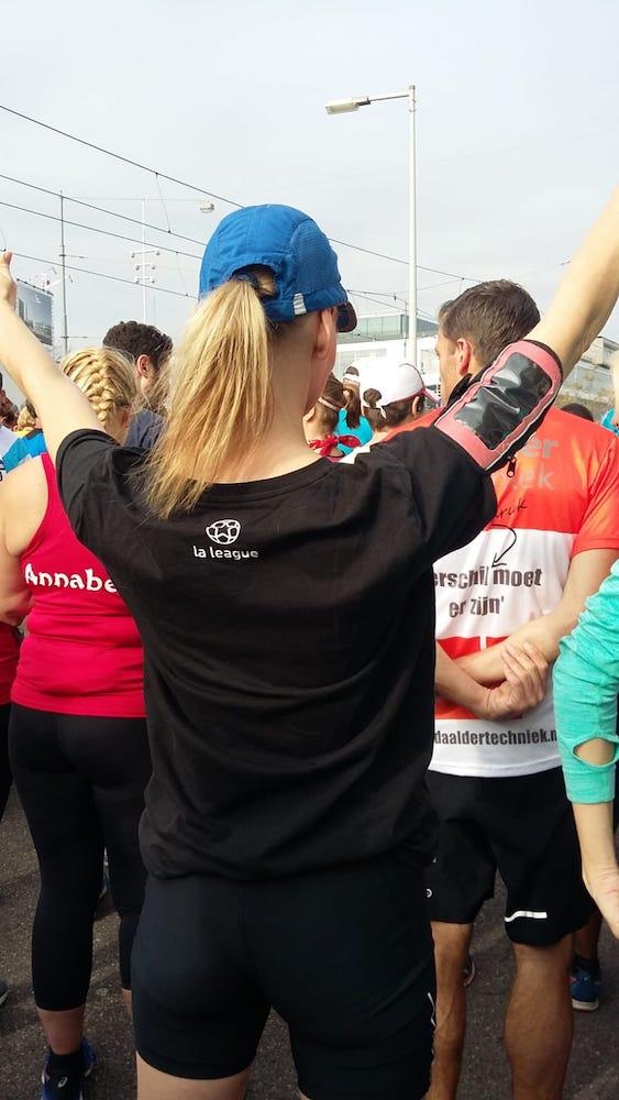Een marathon lopen voor de organisatie La Leage