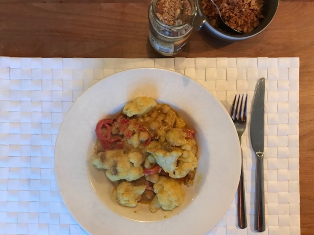 Recept makkelijke pittige Thaise curry met kikkererwten