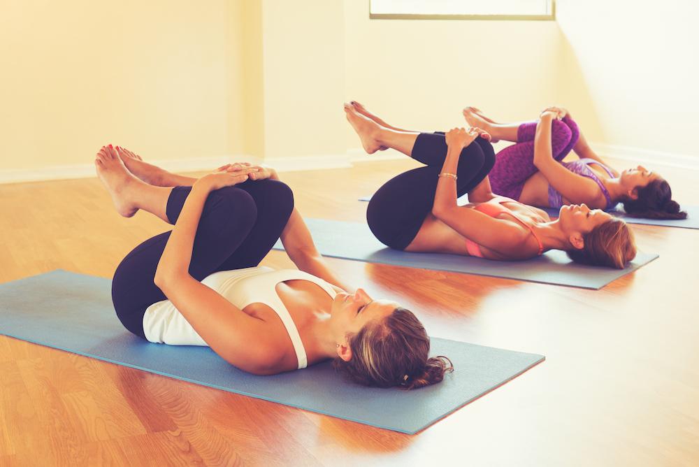 yoga houding, weg met winderigheid....