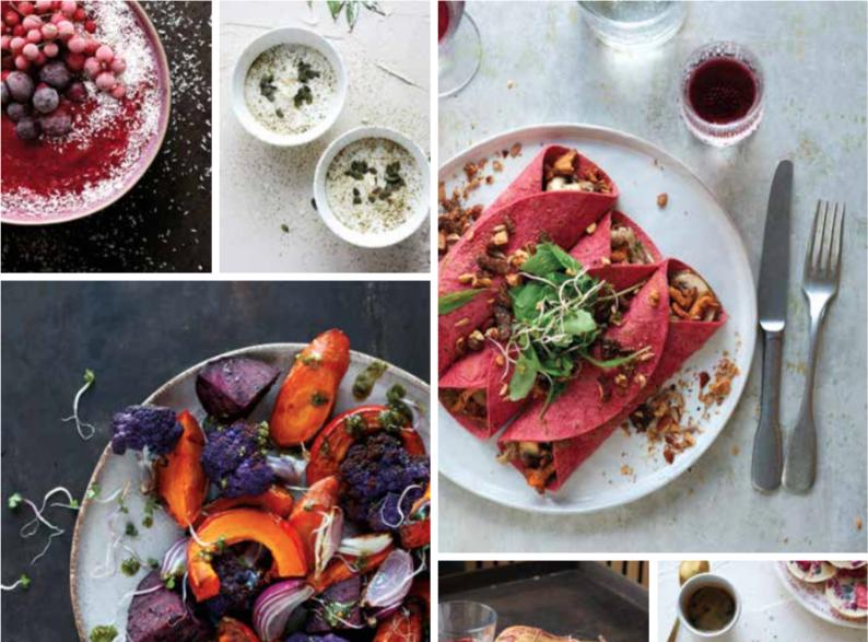 Vegan en vegetarische recepten voor de feestdagen in dit kookboek.