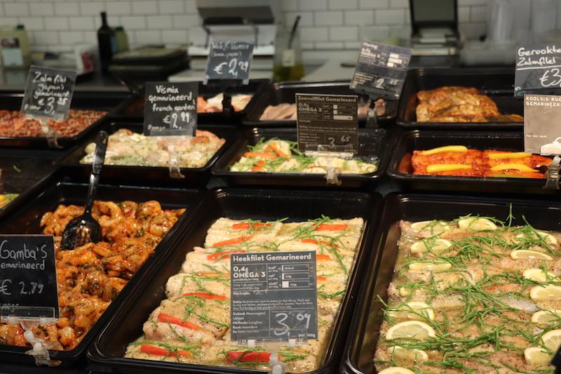 Waarom duurzame vis? Foto van duurzame vis bij supermarkt Marqt