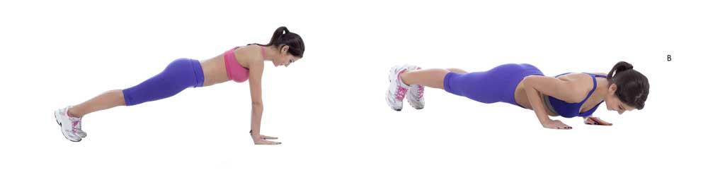 Voorbeeld push up oefening, 3 intensieve fitnessoefeningen