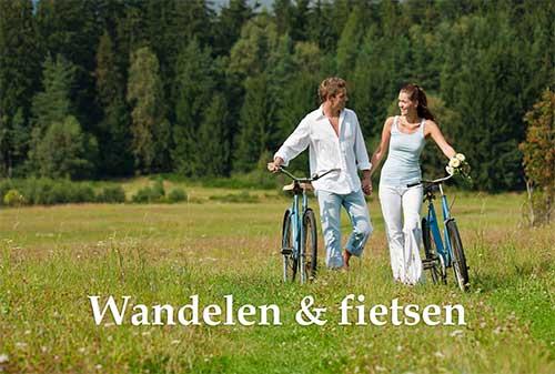 Maandthema wandelen en fietsen