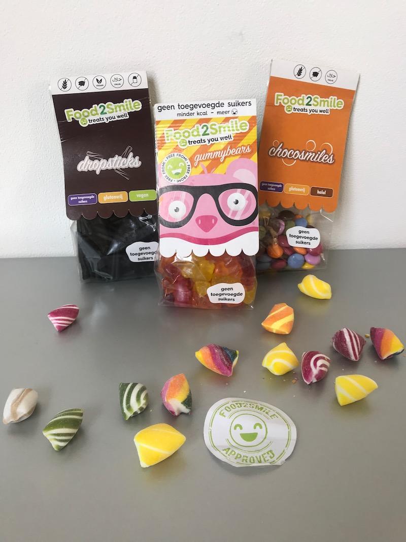 Food2Smile, gezonde snoepjes, dropjes kopen, zonder suiker, zoetstoffen en vegan