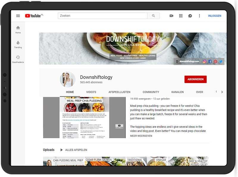 Vloggers en youtubekanalen over voeding, gezondheid en bewegen.
