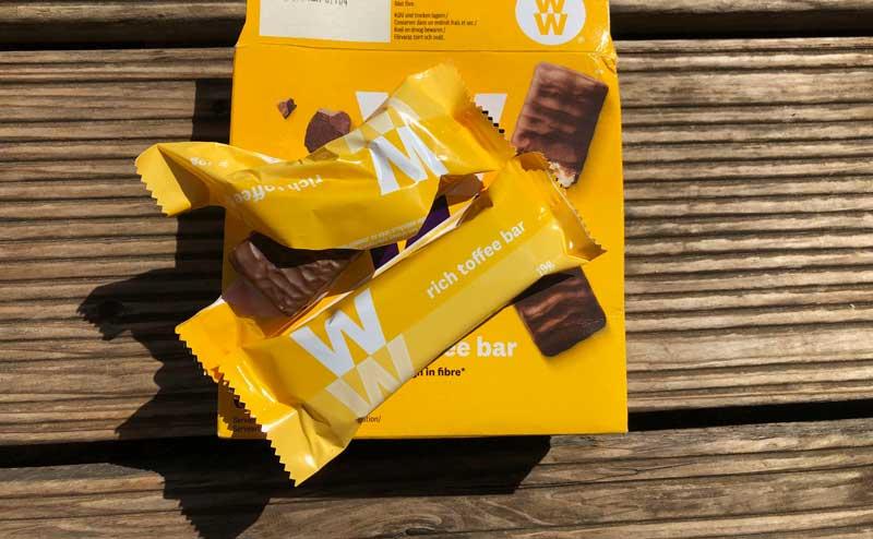 Chocobar met vezels van Weigt Watchers