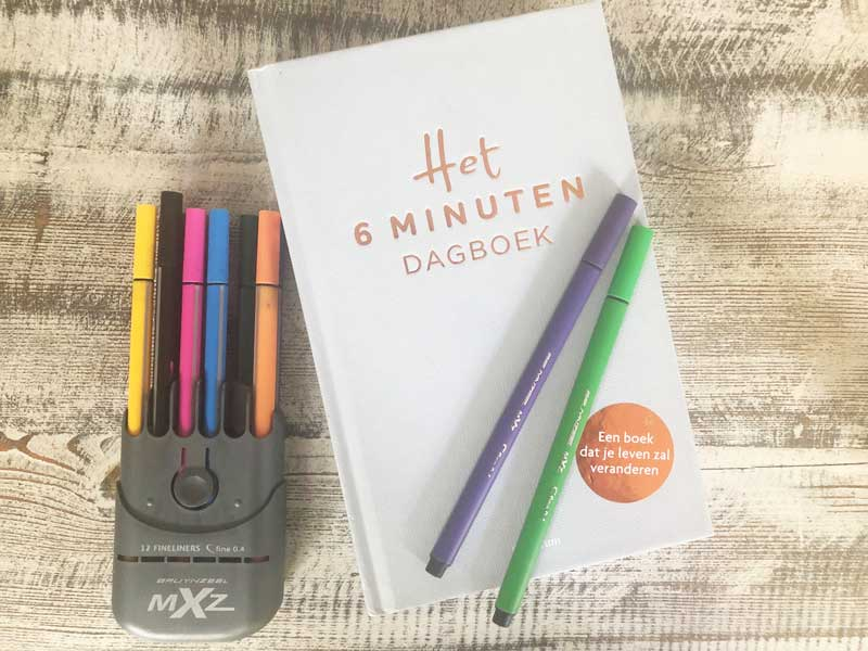 Het 6 minuten dagboek, een makkelijk dagboek voor meer geluk