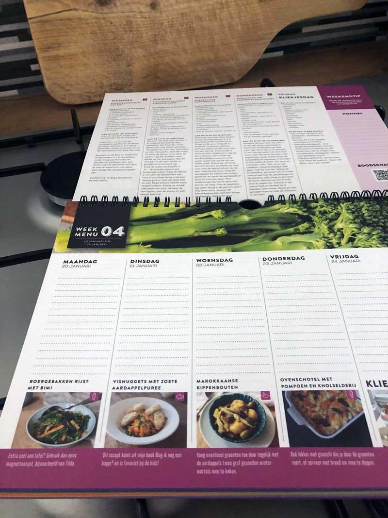 Goede kalender 2020 met recepten