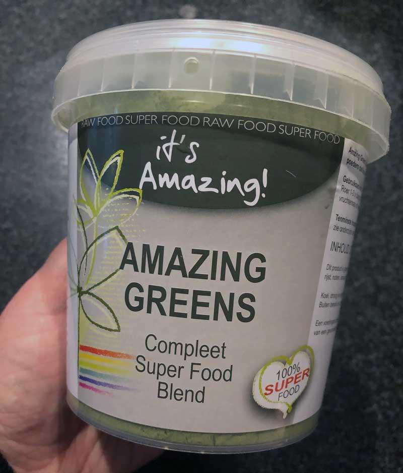Ervaring met Amazing Greens, fruit- en groentepoeder