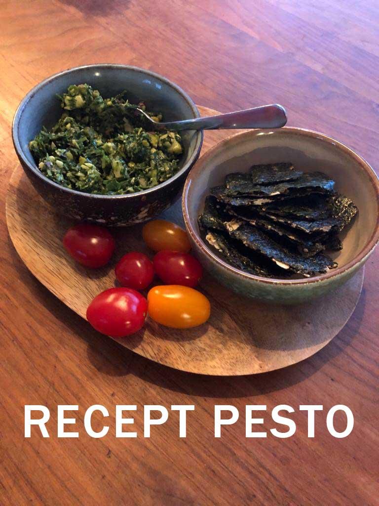 Recept om pesto te maken, bewaar op Pinterest