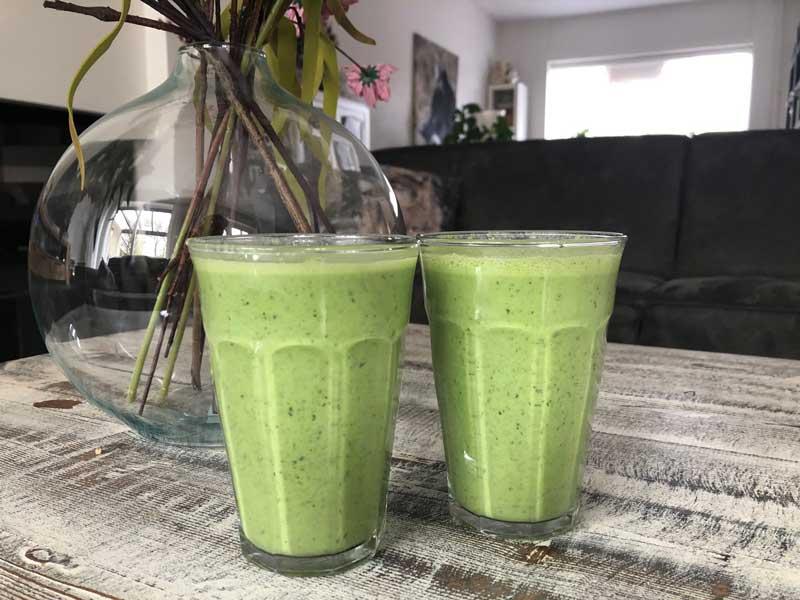 Gezonde, snelle groene smoothie