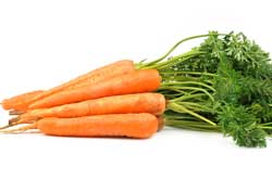 Oranje voeding gezond? Wortelen!