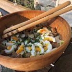 Caloriearme skinny salade met ei en ansjovis